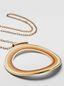 Marni RAINBOW necklace in metal and leather with single circle Woman - 3