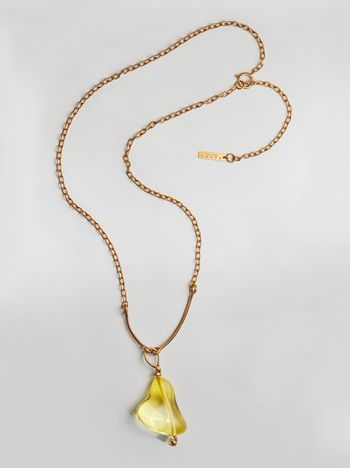 Marni COLLECT necklace in resin and metal with central drop shape  Woman