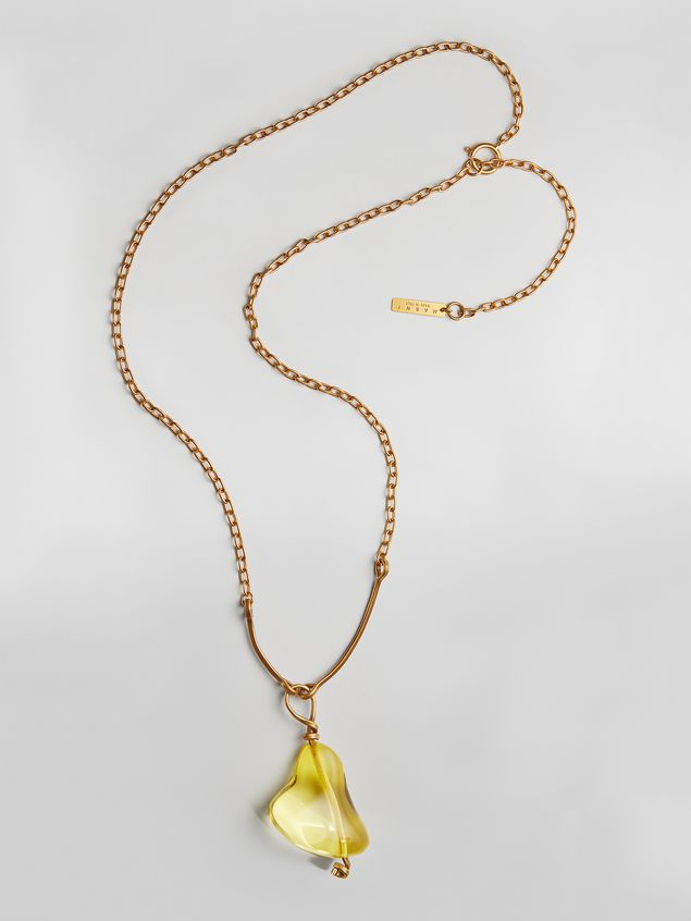 Marni COLLECT necklace in resin and metal with central drop shape  Woman - 1