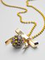 Marni BOW necklace in metal and rhinestones Woman - 3