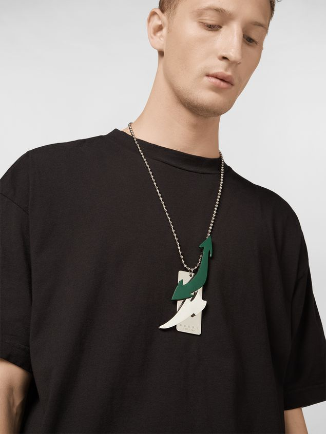 Marni Necklace in leather and metal with removable pendants Man - 2