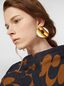Marni RAINBOW clip-on earrings in metal and leather with circle  Woman - 2