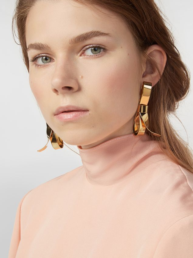 Marni BOW screw earrings in metal with bow Woman - 2