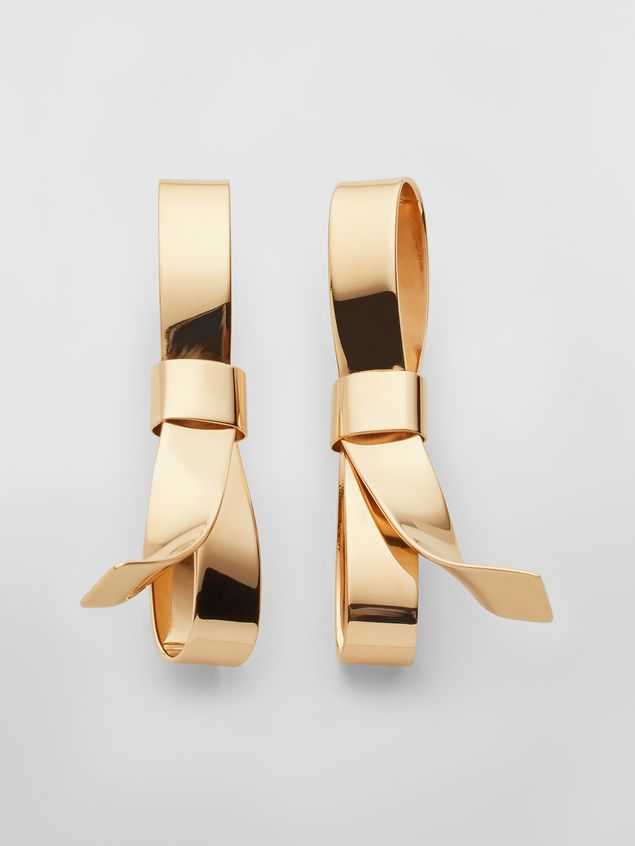 Marni BOW screw earrings in metal with bow Woman - 1