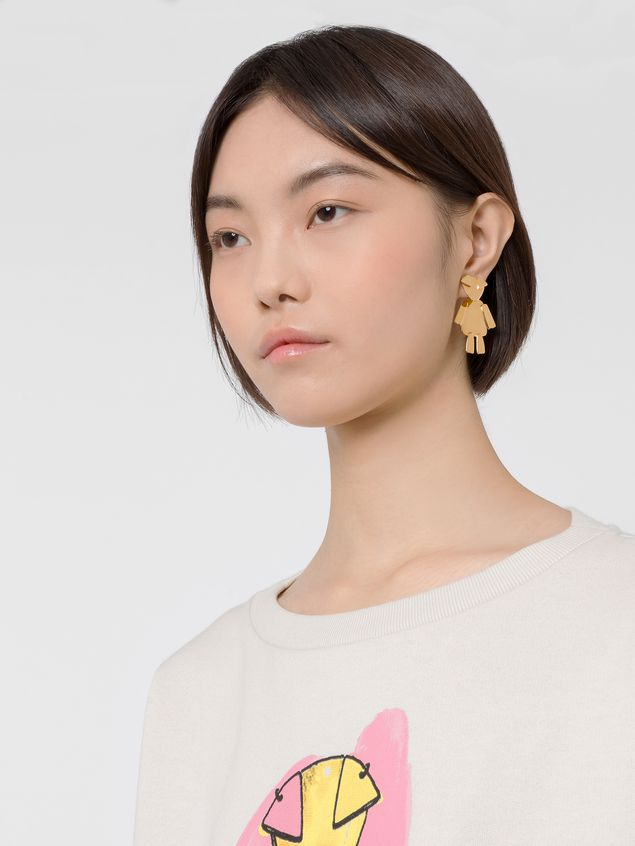 Marni CHINESE NEW YEAR screw earrings in metal with animal pendant  Woman - 2