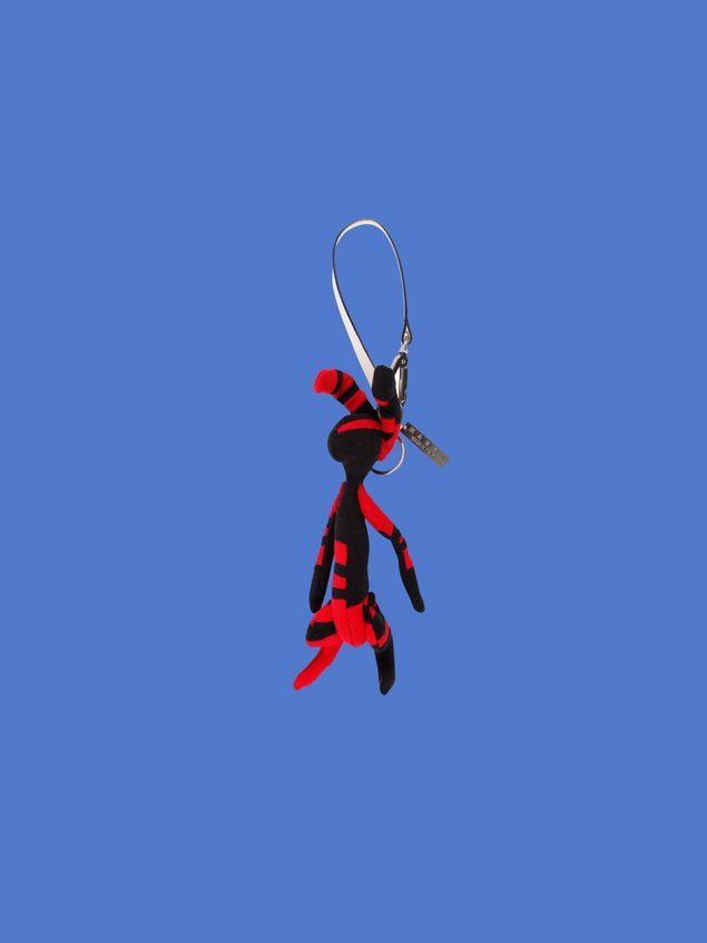Marni Rabbit-shaped pendant in bi-colored cotton Man - 1
