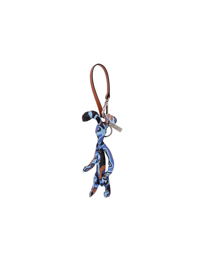 Marni Rabbit-shaped pendant in light nylon with Dance Bunny print Man - 2