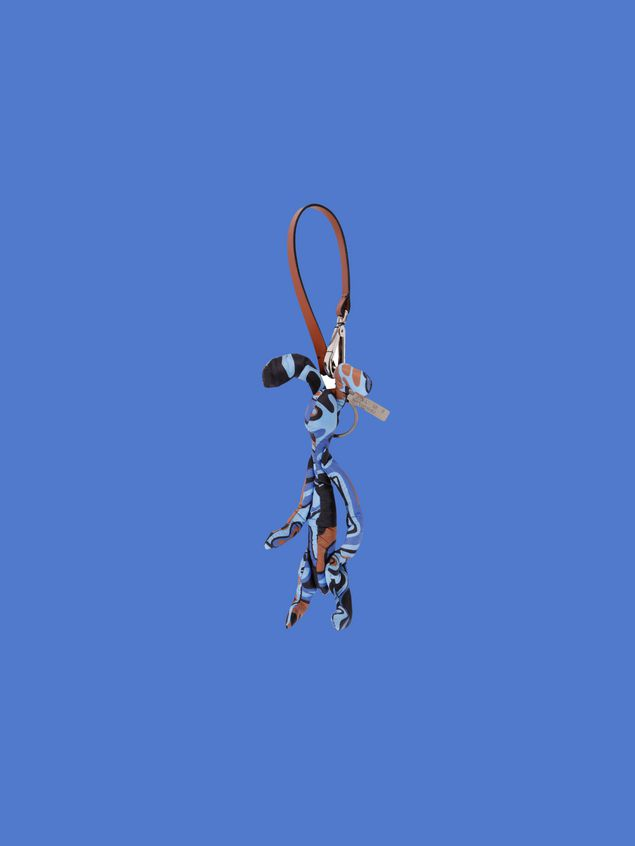 Marni Rabbit-shaped pendant in light nylon with Dance Bunny print Man - 1