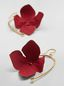Marni FLORA earrings in fabric and rhinestones with red flower  Woman - 3