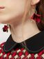Marni FLORA earrings in fabric and rhinestones with red flower  Woman - 2