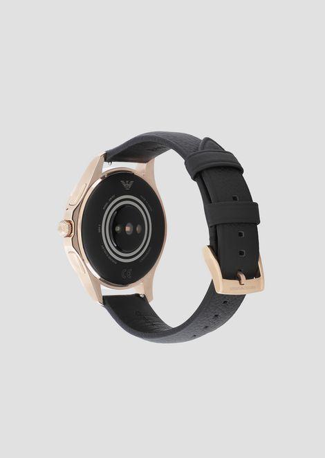Emporio armani touchscreen leather smartwatch