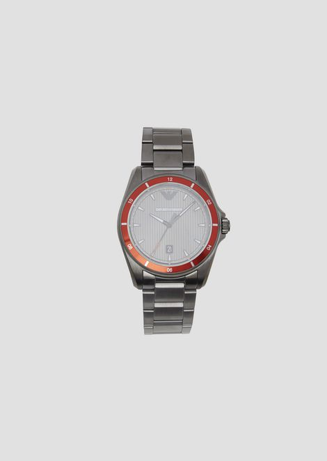 c92450f7826d Stainless steel watch with contrasting bezel