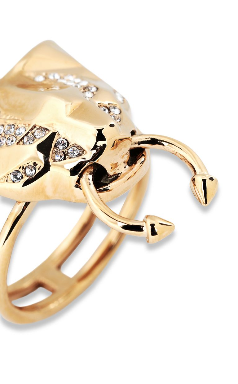 JUST CAVALLI Ring with tiger-head detail Ring Woman d