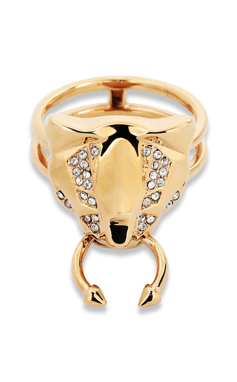 JUST CAVALLI Ring with tiger-head detail Ring Woman e