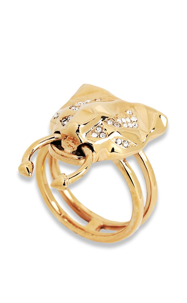 JUST CAVALLI Ring with tiger-head detail Ring Woman f