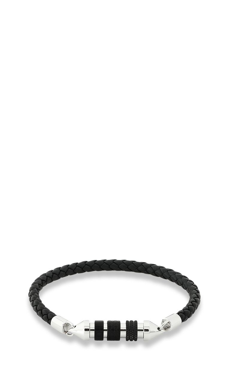 JUST CAVALLI Bracelet in braided black leather Bracelet Man f