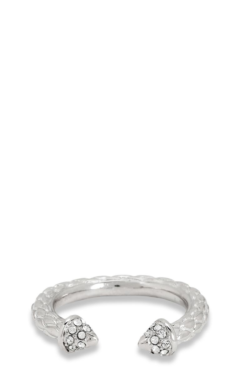 JUST CAVALLI Silver-tone ring Ring Woman e