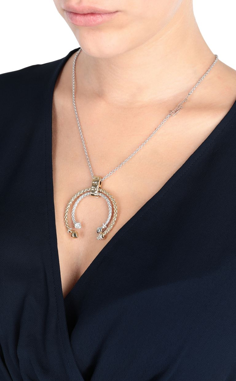 JUST CAVALLI Two-tone necklace Necklace Woman r