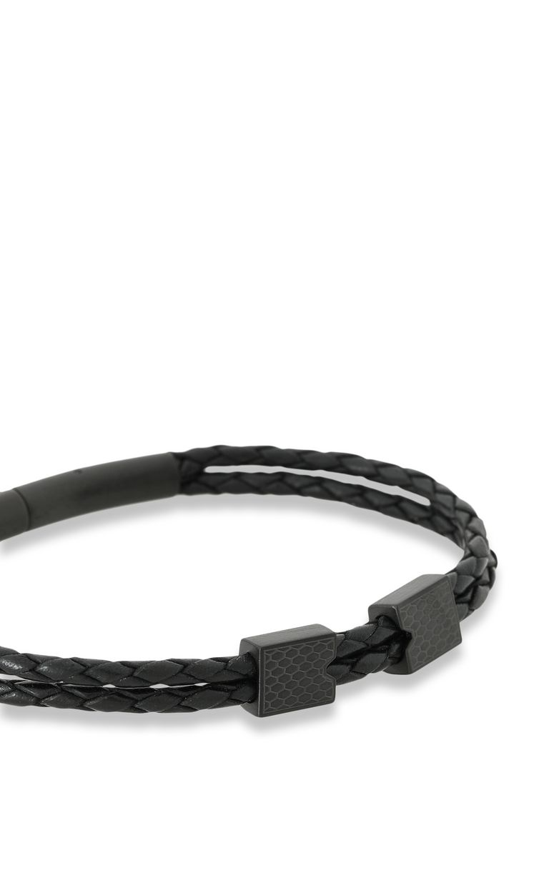 JUST CAVALLI Bracelet in black leather Bracelet Man d
