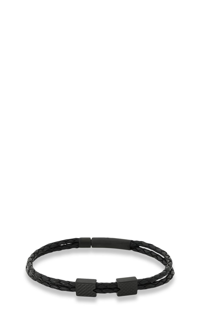 JUST CAVALLI Bracelet in black leather Bracelet Man f