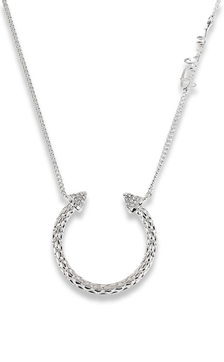 JUST CAVALLI Silver-tone necklace Necklace Woman e