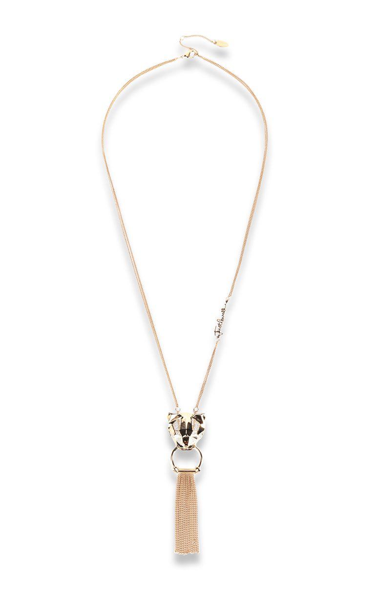 JUST CAVALLI Tiger-pendant necklace Necklace Woman f