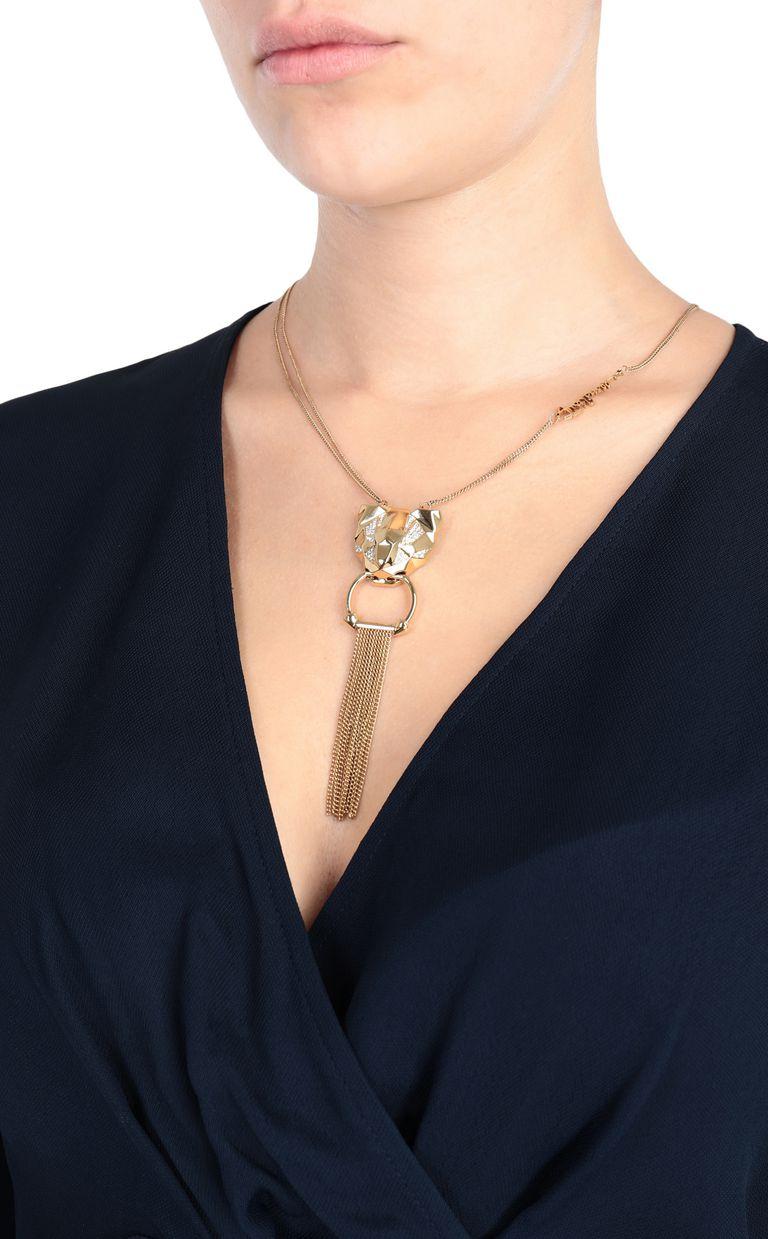 JUST CAVALLI Tiger-pendant necklace Necklace Woman r