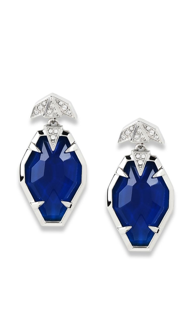 JUST CAVALLI Blue-glass earrings Earrings Woman f