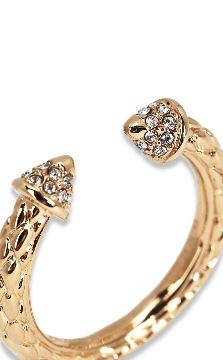 JUST CAVALLI Gold-tone ring Ring Woman d
