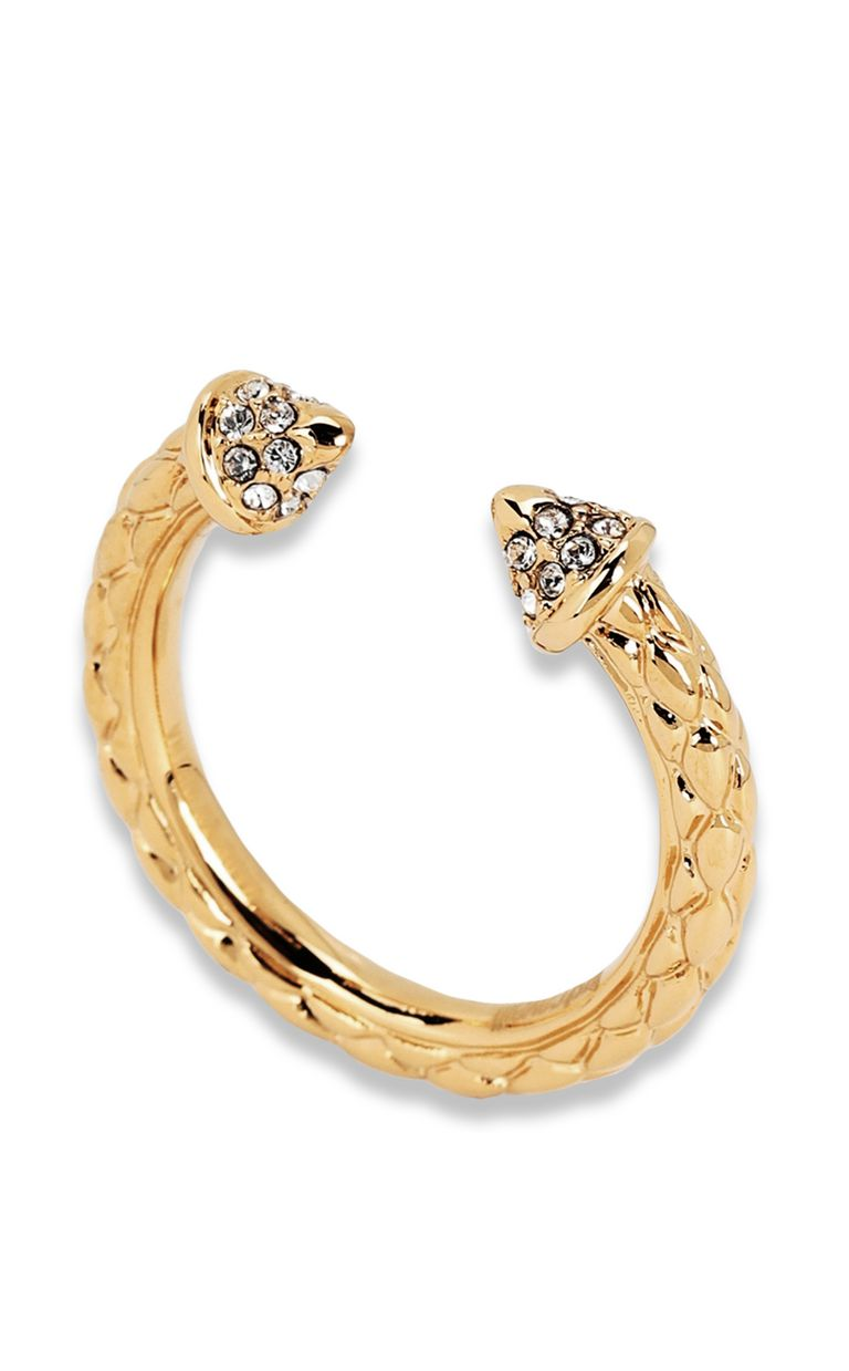 JUST CAVALLI Gold-tone ring Ring Woman f