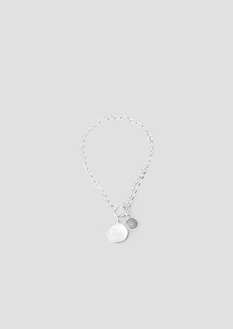 Bracelet with mother-of-pearl charms with logo