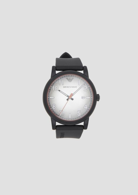 ede44ef338f Matt rubber watch with round dial and gradient face