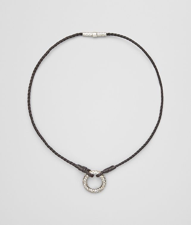 BOTTEGA VENETA PENDANT IN INTRECCIATO SILVER Necklace [*** pickupInStoreShipping_info ***] fp