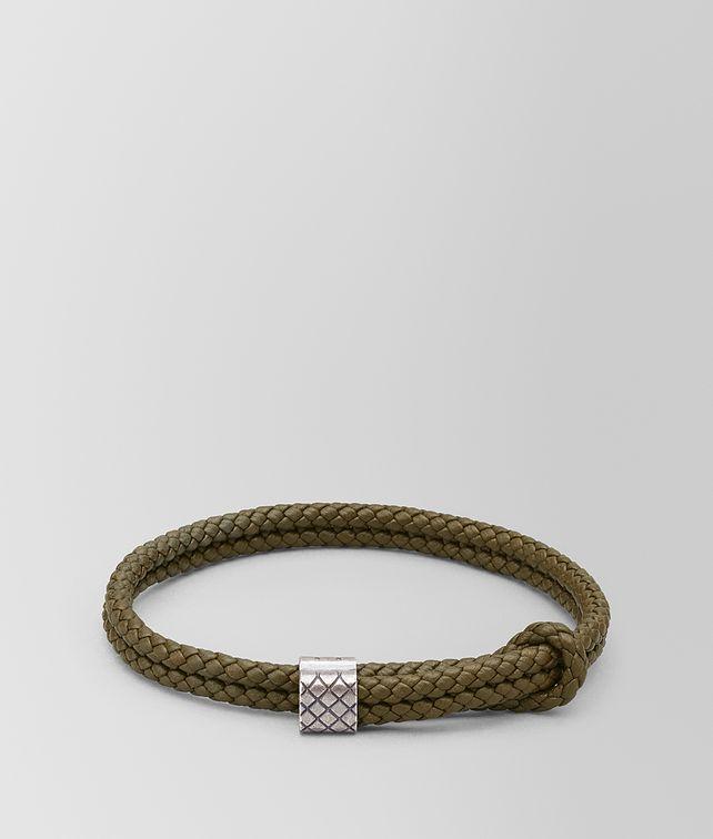 BOTTEGA VENETA BRACELET IN LEATHER AND SILVER Bracelet [*** pickupInStoreShippingNotGuaranteed_info ***] fp