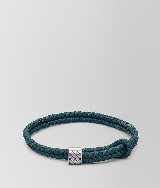 BOTTEGA VENETA BRACELET EN CUIR ET ARGENT Bracelet [*** pickupInStoreShippingNotGuaranteed_info ***] fp