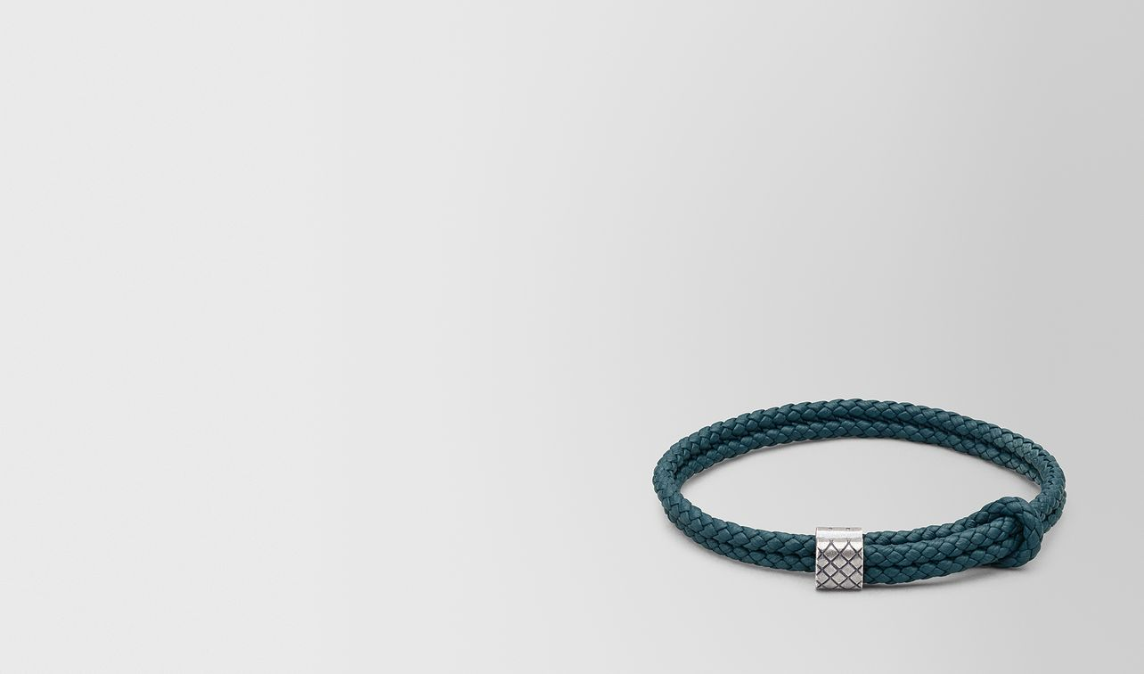 bracelet en cuir et argent  landing