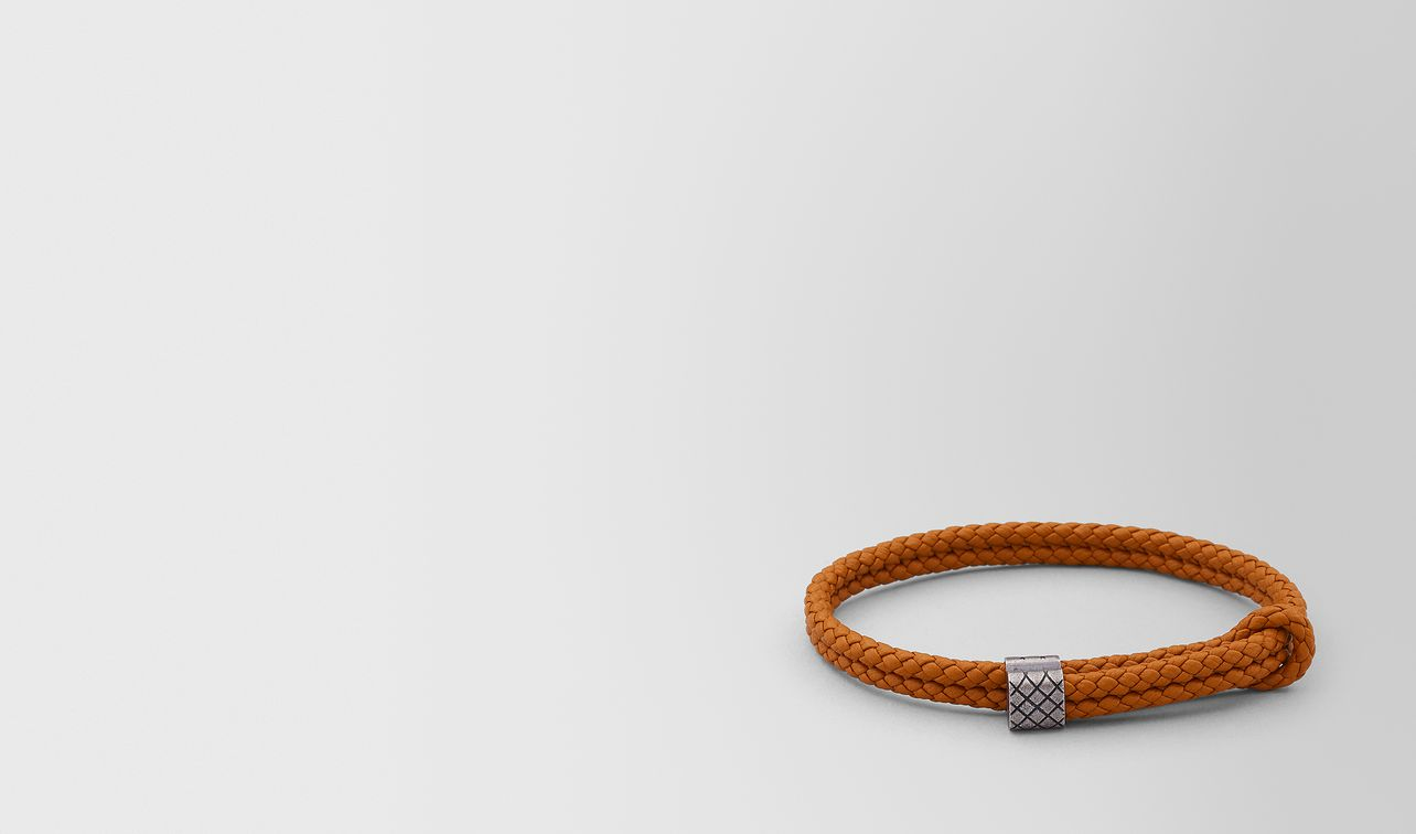 bracelet in leather and silver   landing
