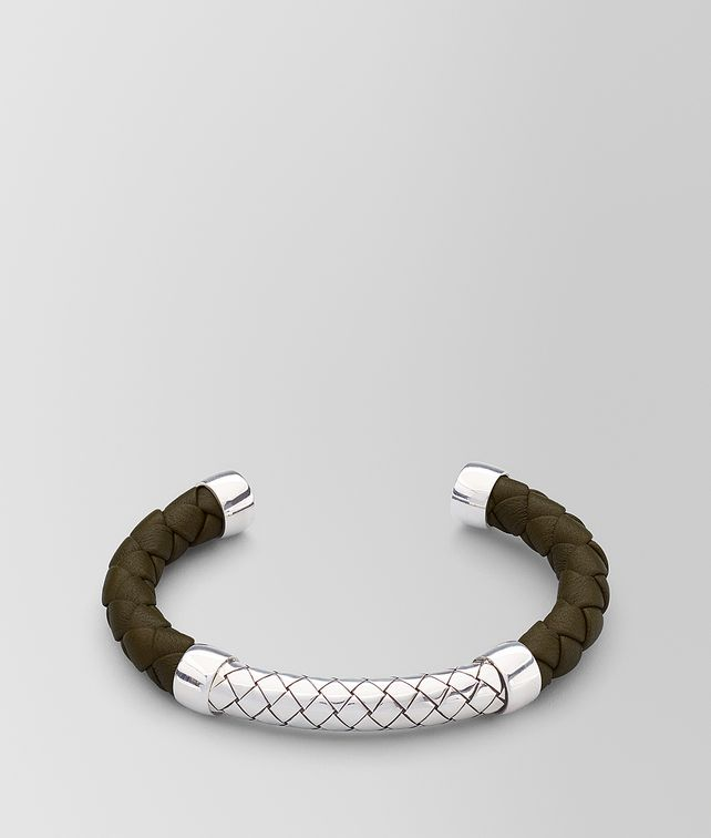 BOTTEGA VENETA BRACELET IN LEATHER AND SILVER Bracelet [*** pickupInStoreShippingNotGuaranteed_info ***] fp