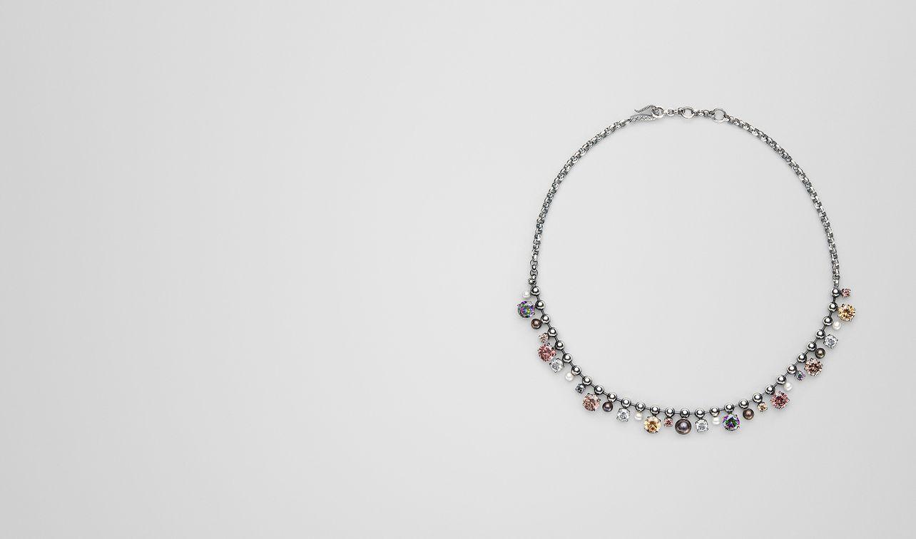 collier avec perles et zircons landing