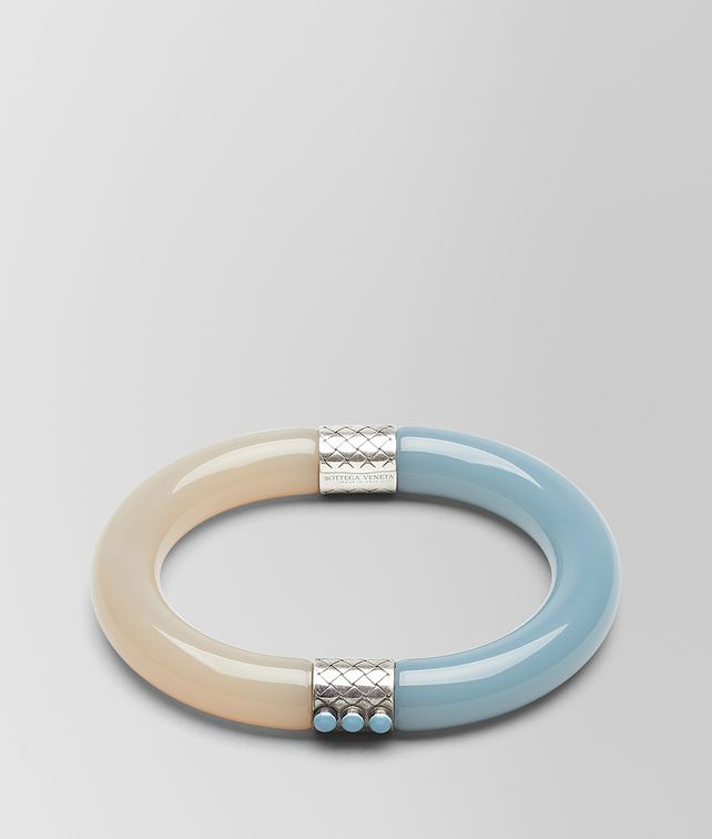 BOTTEGA VENETA BRACELET IN RESIN AND SILVER Bracelet [*** pickupInStoreShipping_info ***] fp