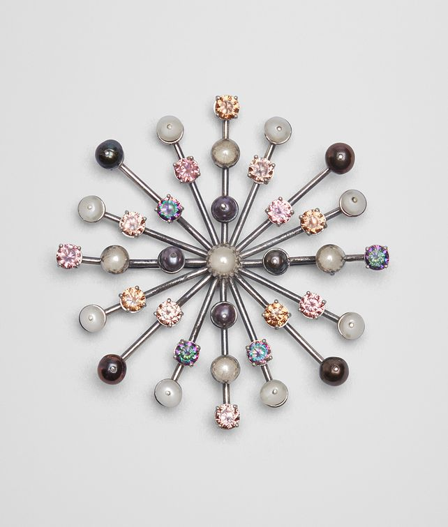 BOTTEGA VENETA BROOCH IN PEARL AND ZIRCONIA Other Jewellery [*** pickupInStoreShipping_info ***] fp