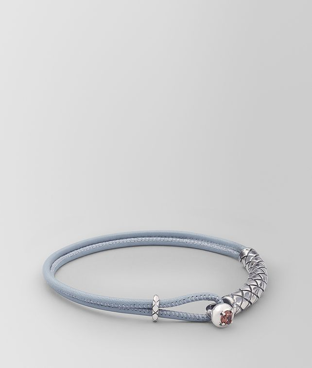 BOTTEGA VENETA BRACELET IN LEATHER AND SILVER Bracelet [*** pickupInStoreShipping_info ***] fp