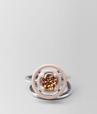方晶氧化锆和珐琅戒指