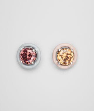 方晶氧化锆和珐琅耳环