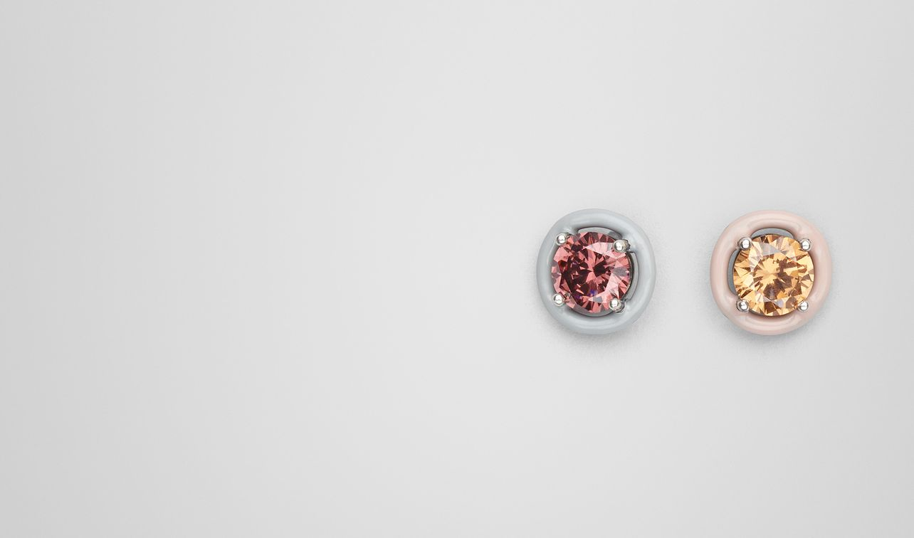earring in zirconia and enamel  landing