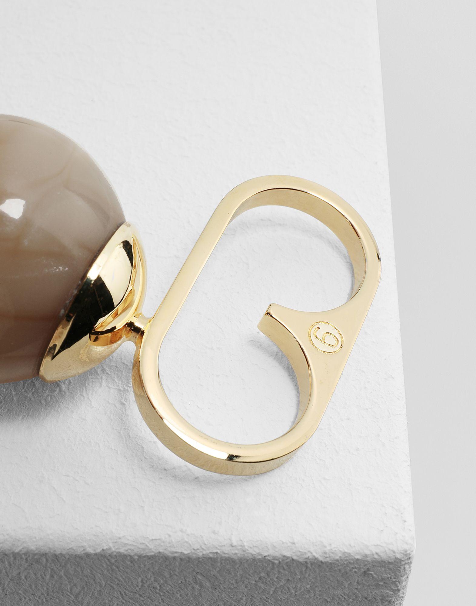 MM6 MAISON MARGIELA Marble ball ring Ring Woman e