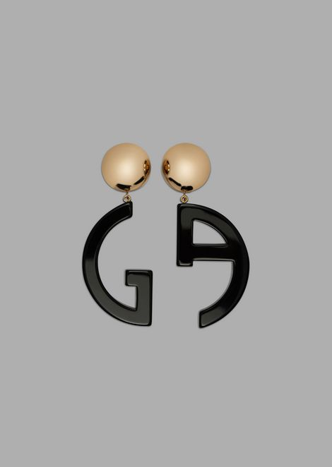 Earrings with GA pendants in resin and plexiglassglass