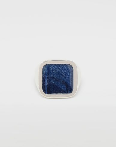 MAISON MARGIELA Ring [*** pickupInStoreShippingNotGuaranteed_info ***] Feathered ring in Klein blue f