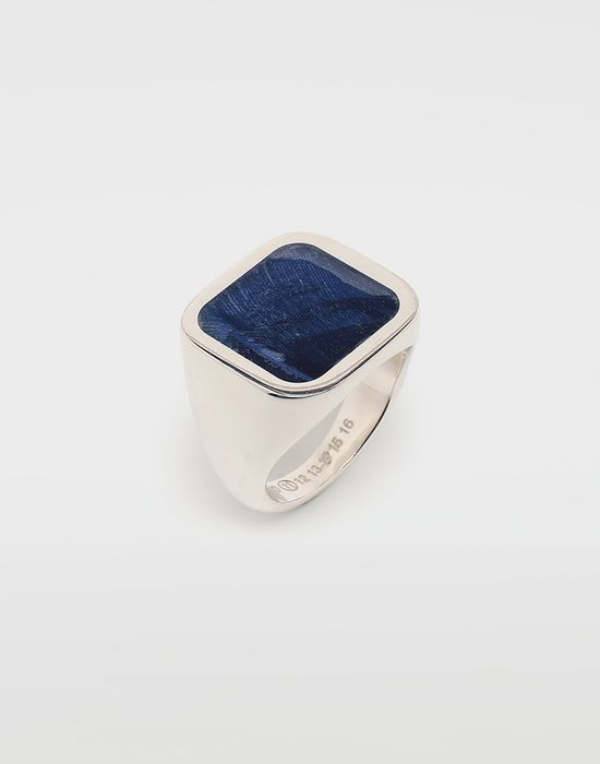 MAISON MARGIELA Feathered ring in Klein blue Ring [*** pickupInStoreShippingNotGuaranteed_info ***] r