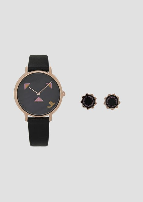 Gift Set with watch and earrings